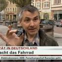 Christian Schwerin erklärt den BikeLogger auf N-TV