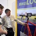 Unser schmuckes Demonstrationsrad mit Rohloff-Getriebeschaltung und angebauten iPad mini