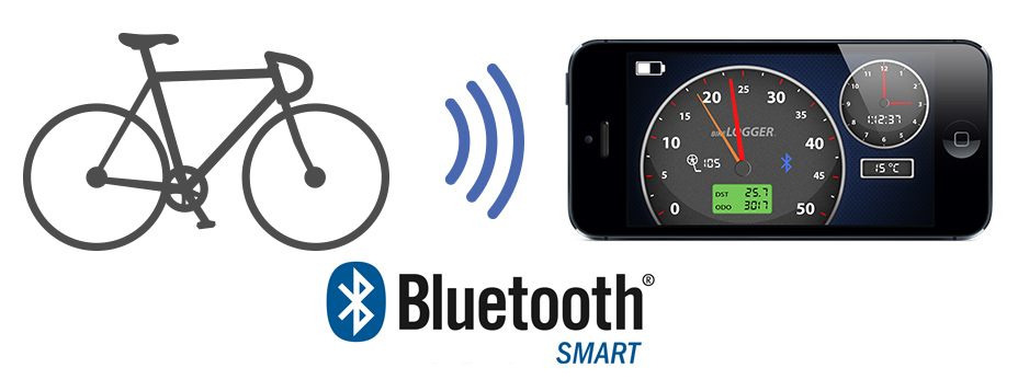 A good team: BikeLogger and BlueTooth Smart